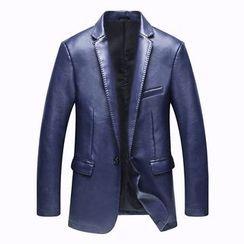 Best Gang - Faux-Leather Blazer