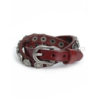 THELEESSHOP - Genuine Leather Studded Bracelet