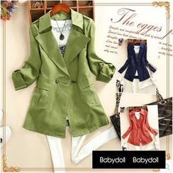 Babydoll - Double-Breasted Trench Coat