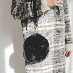 JUSTONE - Faux-Fur Tambourine Hand Bag