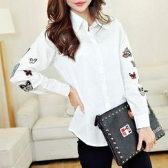 Cobogarden - Butterfly Appliqué Shirt