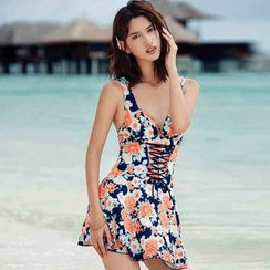 Goldlyre - Floral Swim Dress
