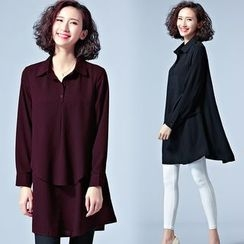 Cherry Dress - Layered Long Blouse