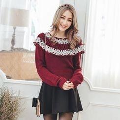 Tokyo Fashion - Paneled Layered Sweater