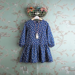Kidora - Kids Rabbit Print Long-Sleeve Dress
