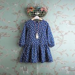 Kidora - 小童长袖小兔印花连衣裙