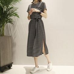 Carabecca - 條紋T恤連衣裙