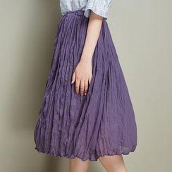 11.STREET - Shirred Chiffon Skirt