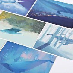 Milena - Whale Print Postcard Set (30 pcs)