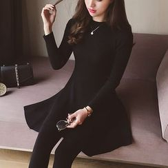 Cocofield - Long-Sleeve Knit A-Line Dress