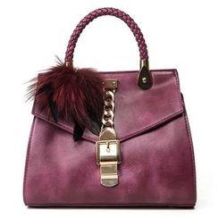 Nautilus Bags - Bobble Faux Leather Handbag