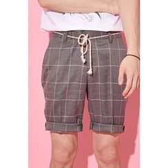 Ohkkage - Check-Pattern Shorts
