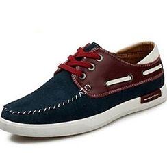 Van Camel - Color Block Boat Shoes