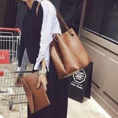 Nautilus Bags - Faux Leather Shopper Bag