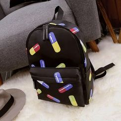 Nautilus Bags - Print Canvas Backpack