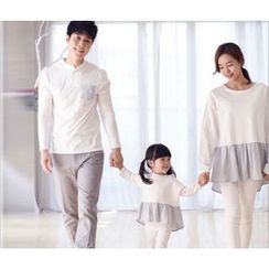 Dream Team - Family Matching Ruffle Trim Long Sleeve T-Shirt / Pocketed Long Sleeve T-Shirt