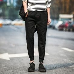 MEING - Gather-Cuff Slim-Fit Pants