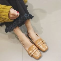 Crystella - Buckled Loafers