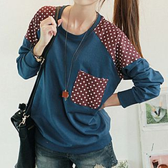 CLICK - Dotted Yoke Pullover
