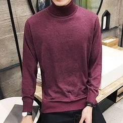 Bay Go Mall - Mock Neck Sweater