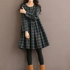 Fancy Show - Plaid A-Line Dress