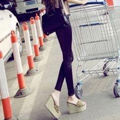 Mancienne - Wedge Mule Sandals
