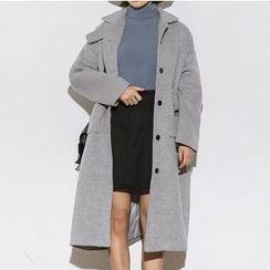Heynew - Plain Wool Coat
