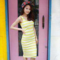 olivethey Stripe Tank Dress