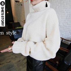 Emeline - 樽領粗織毛衣