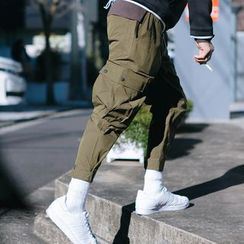 YIDESIMPLE - Velcro-Hem Cargo Tapered Pants