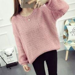 Emeline - 純色粗針織毛衣