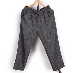 Mannmix - Plain Straight-Leg Pants