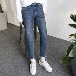 Arthur Look - Washed Slim Fit Jeans