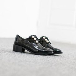 VIVIER - Faux-Pearl Patent Loafers