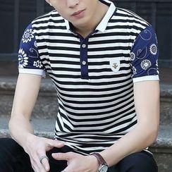 Coolba - 短袖条纹马球衫