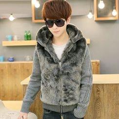 Fusuma - Furry Panel Zip Jacket