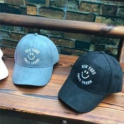 Hats 'n' Tales - Smiley Embroidered Baseball Cap