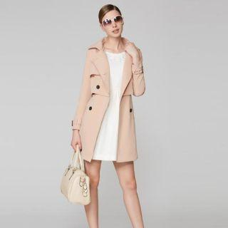 O.SA - Layered Double-Breasted Trench Coat