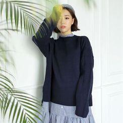 WITH IPUN - Dip-Back Sweater