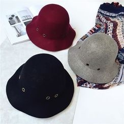Pompabee - Eyelet Detailed Felt Hat