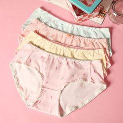 Paradise Isle - Set of 4 : Printed Bow Panties