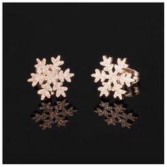 Tenri - Snowflake Stud Earrings
