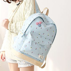 Canvas Love - Floral Print Canvas Backpack
