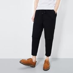 JUN.LEE - Panel Tapered Pants