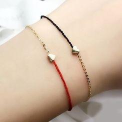 Pinot - 14K Gold Heart Bracelet