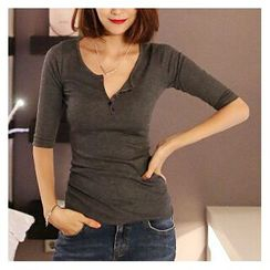 Grainie - Elbow-Sleeve Henley