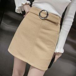 Romantica - Buckled Pencil Skirt
