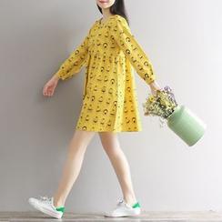 Fancy Show - Printed A-Line Dress