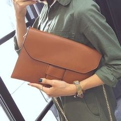 Nautilus Bags - Faux Leather Clutch
