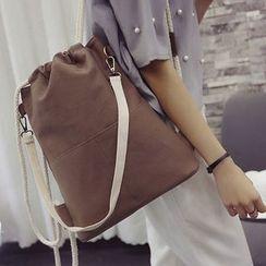 Clair Fashion - Drawstring Canvas Backpack